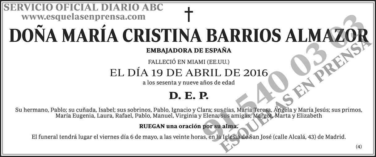 María Cristina Barrios Almazor